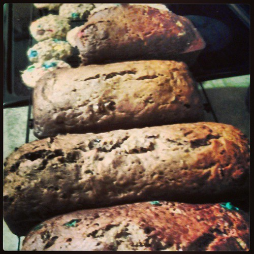 Four loaves and one batch of cookies. And I still have zucchini left over...