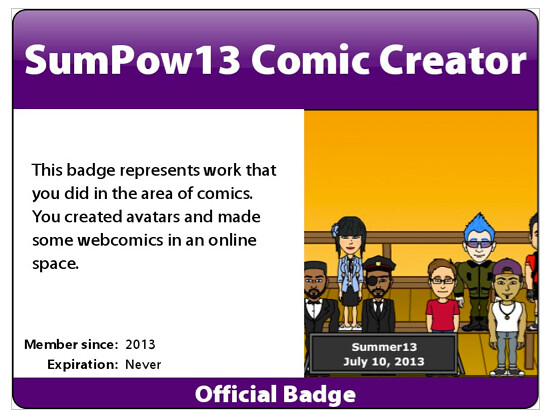 badge comic creator
