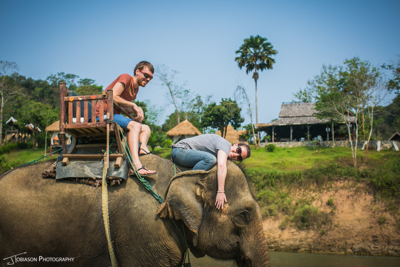 Riding Elephant Laos