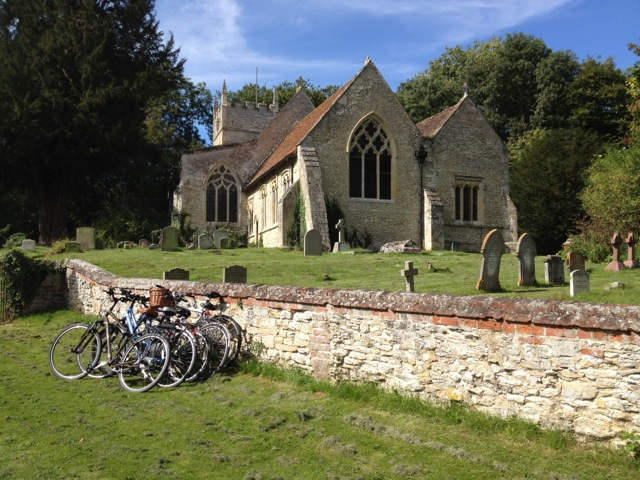 Bicycles outside Church