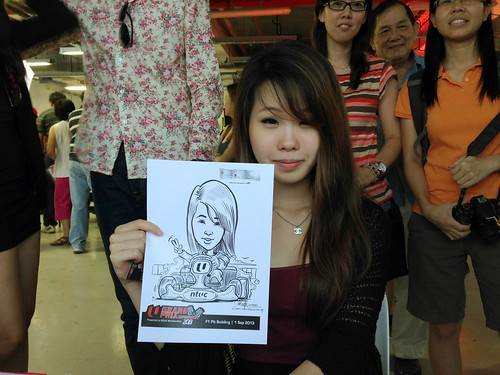 caricature live sketching for NTUC U Grand Prix Experience 2013 - 21