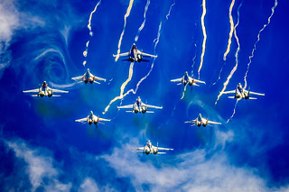 """""""Russian Knights"""" and """"Swifts"""" in acid colors - 2"""