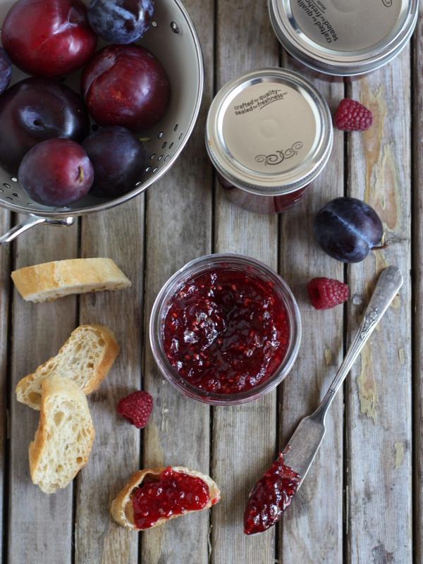 Raspberry Plum Jam from completelydelicious.com