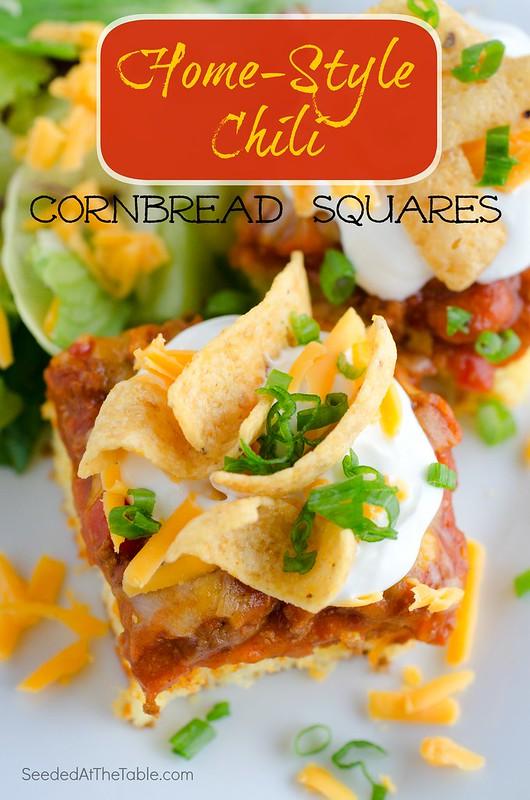 Home-Style Chili Cornbread Squares