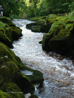 The Strid on the River Wharfe Aug2013