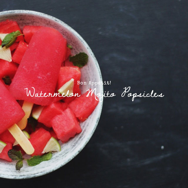 Watermelon Mojito Popsicles