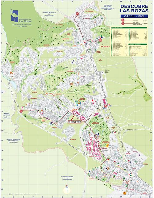 Mapa Carriles Bici en Las Rozas