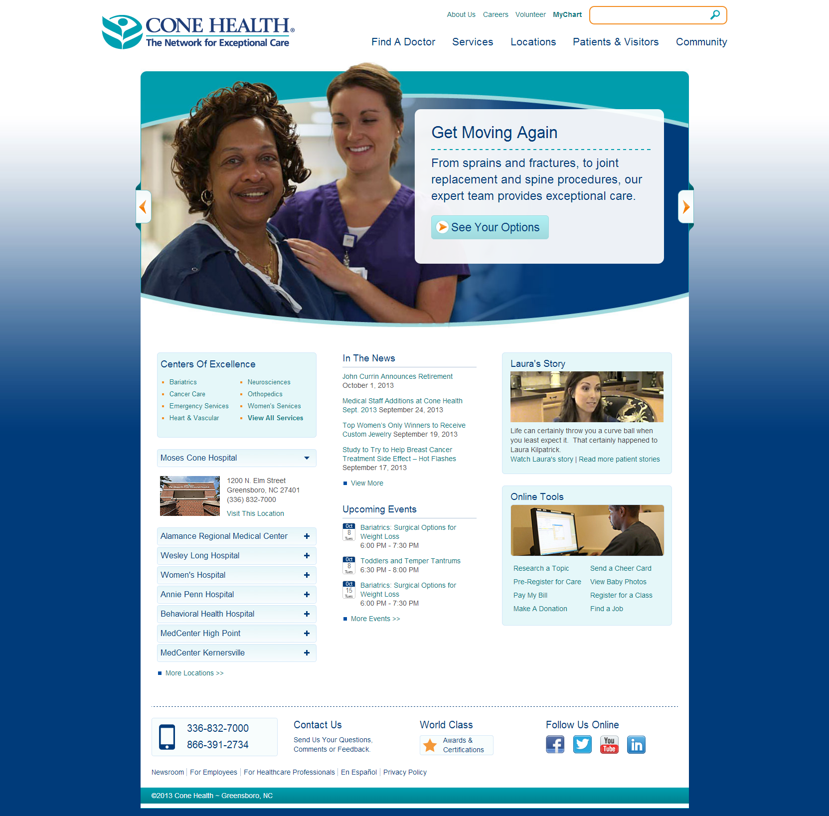Cone Health Beautiful Health Website