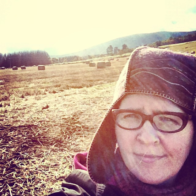 Harvest time #selfie #scotland #highlands #hay