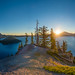 Crater Lake Sunrise by absencesix