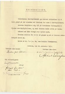 Olderdalens Skotthyllklubb - Leie av grunn for 2 skotthyllbaner ved Vikelva på Ranheim (1933)