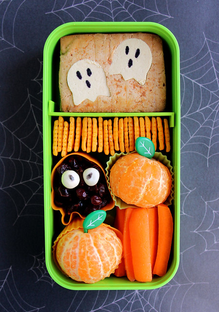 Preschool Halloween Tofu Ghost Bento #521