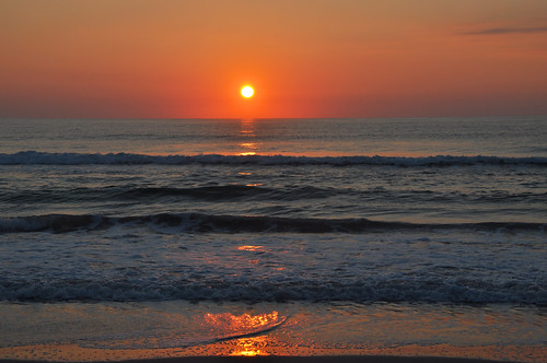 wilmington nc north carolina beach shore coast wrightsville ocean sea sunrise sun