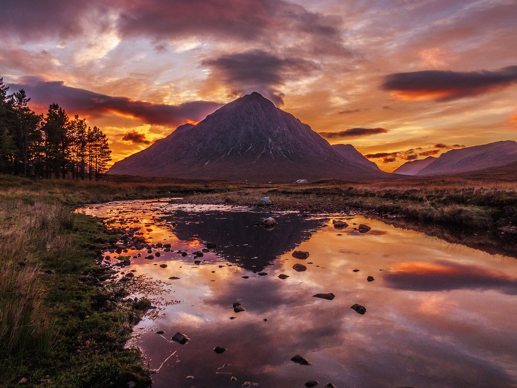 Buachaille Etive Mor at Sunset