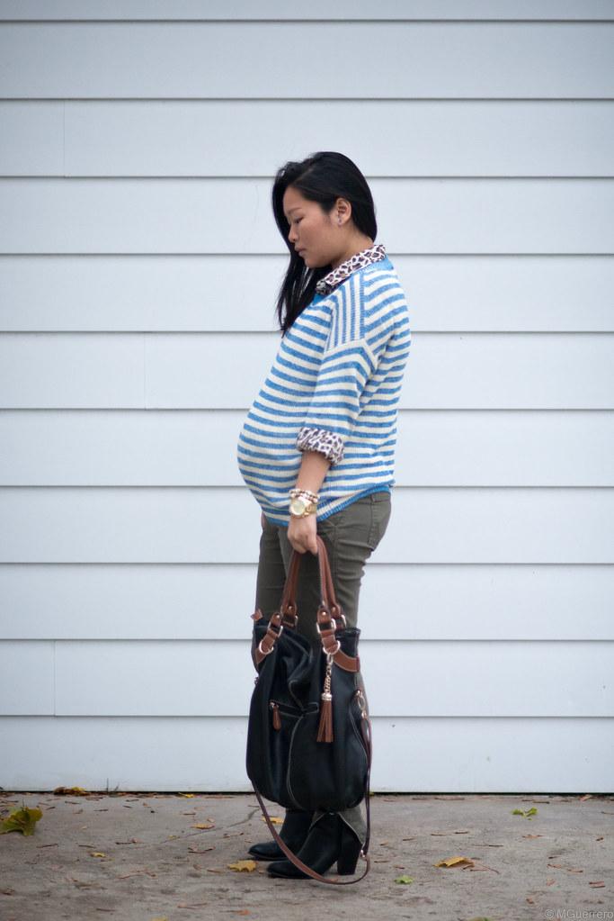 blue striped sweater 001