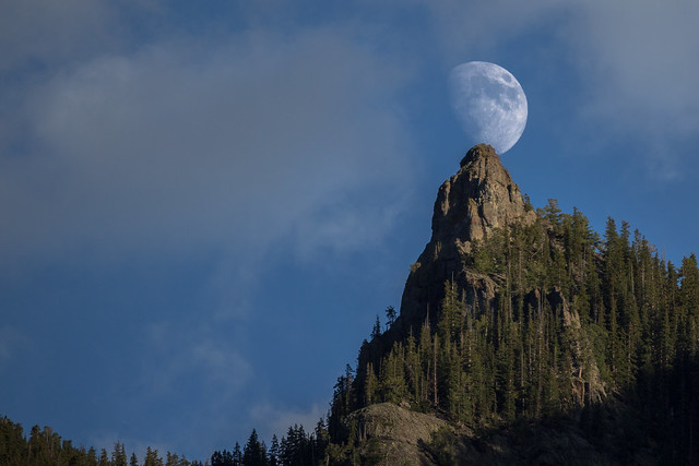 Rising Moon Over Ouray, Colorado