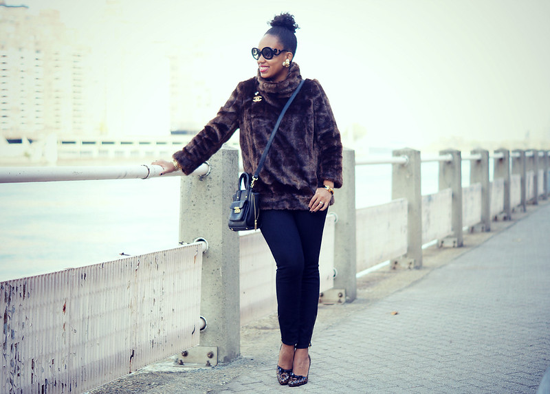 Faux Fur Pullover1