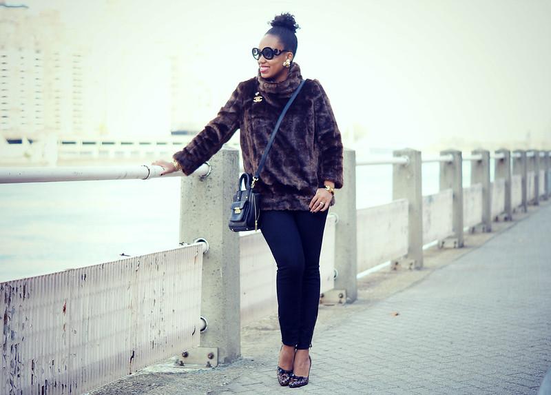 Faux Fur Pullover1