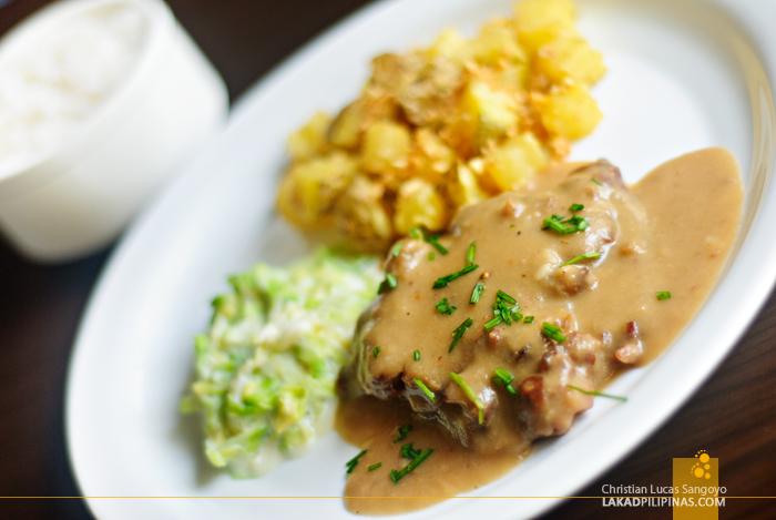 Salisbury Steak at Baguio Holiday Villas