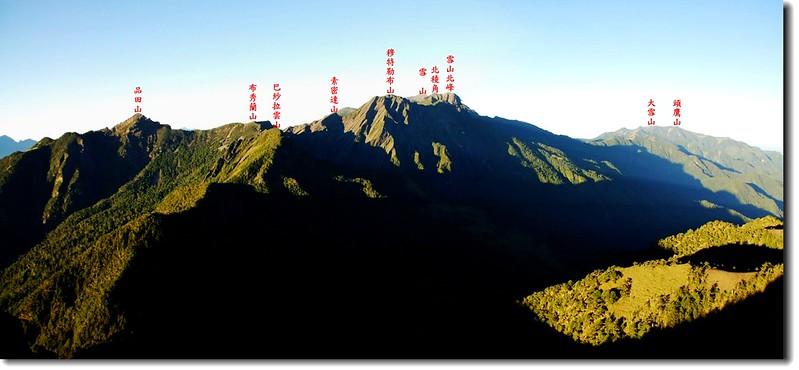 雪山聖稜線(From大霸尖山頂南眺) 1