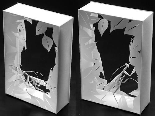 mantis-boxes-paper-sculpture