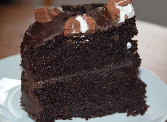 Really easy chocolate fudge cake recipe for Simple chocolate fudge cake