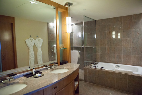 Spacious, luxurious bathroom at the Premier Suite