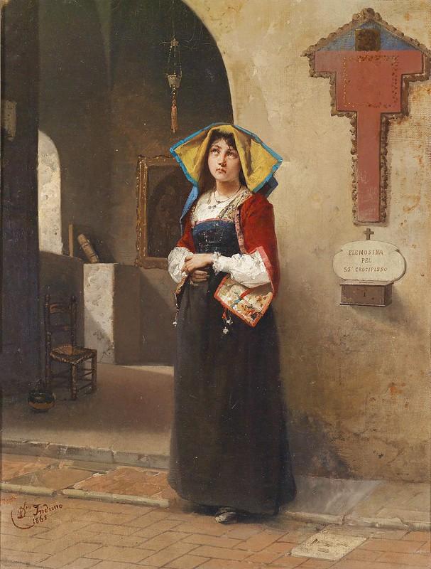 Domenico Induno - Andacht (c.1865)