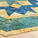 238_Navy Landscape Batik Gold Table Topper_b