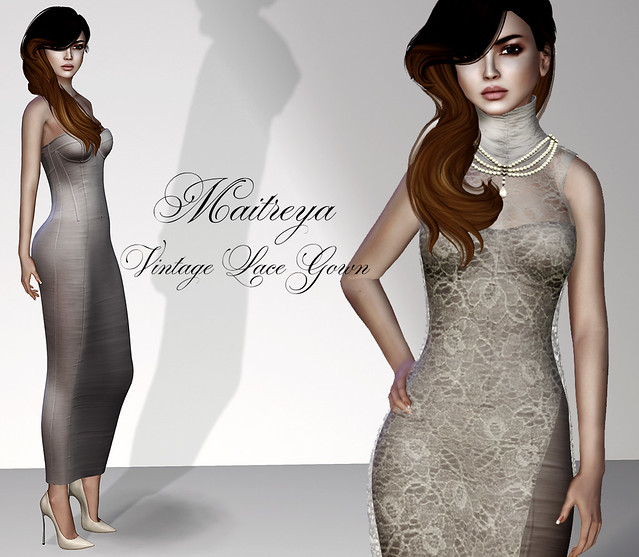 Maitreya Vintage Lace Gown
