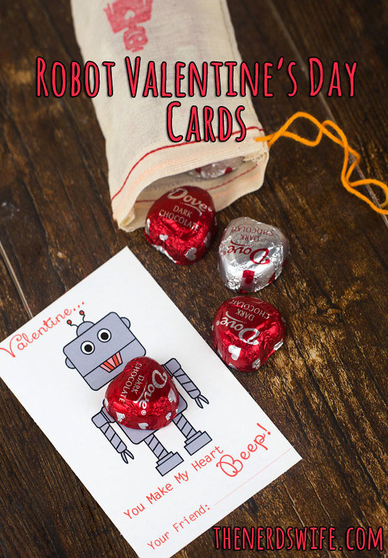 Robot Valentines Day Cards