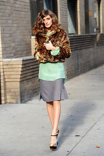 Olivia Palermo Leopard Print Coat Celebrity Style Women's Fashion