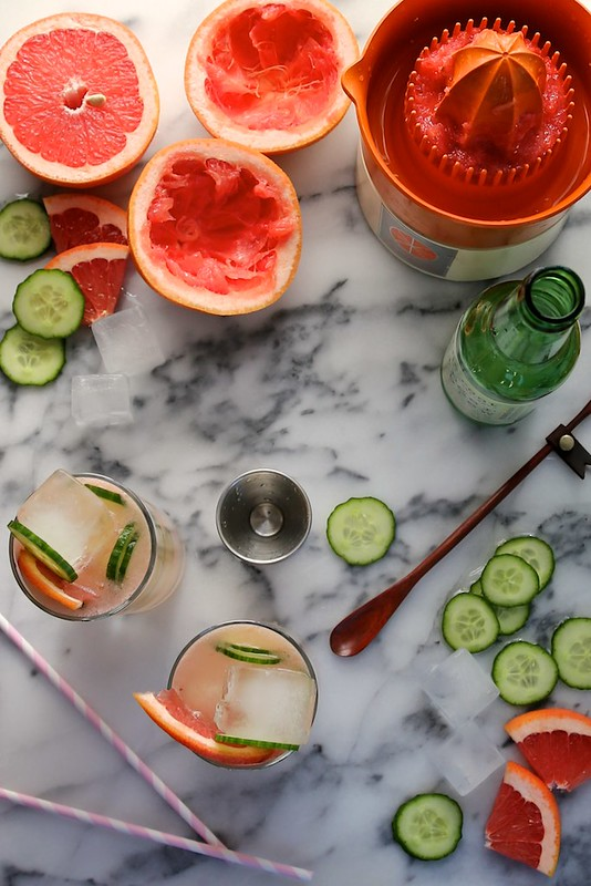 Bonkers Awesome Grapefruit Cucumber Gin Cocktails