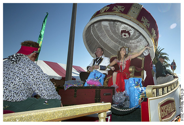 Gasparilla King Philip Carroll and Queen Colleen Pizzo on the Royal float