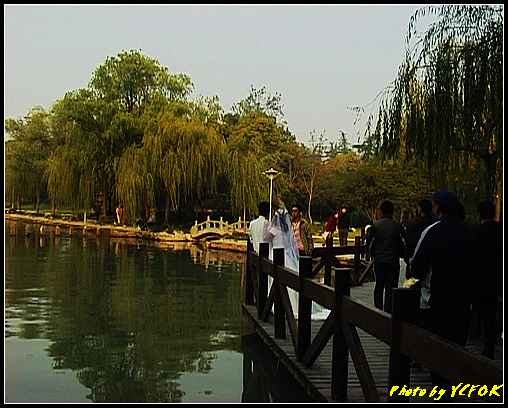 杭州 西湖 (其他景點) - 515 (西湖十景之 柳浪聞鶯 在這裡準備觀看 西湖十景的雷峰夕照 (雷峰塔日落景致)