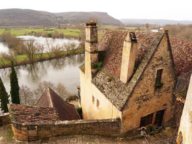 Una casa en Beynac sobre el río Dordoña
