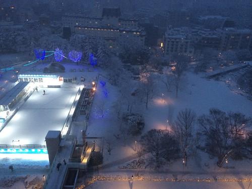 2014年2月14日の雪 - 17時ごろ