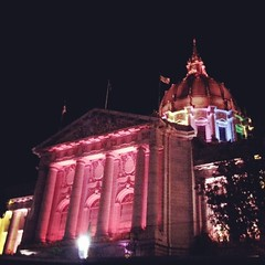 #SanFrancisco's #CityHall is showing it's #Pride for the #Valentine weekend to remind everyone that #LoveHasNoBoundaries, #LoveIsLove.