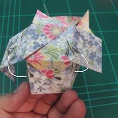 การพับกระดาษเป็นรูปเรขาคณิตทรงลูกบาศก์แบบแยกชิ้นประกอบ (Modular Origami Cube) 024