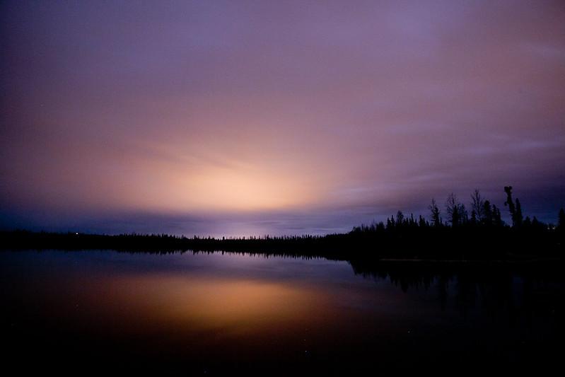夜晚的Cheena Lake