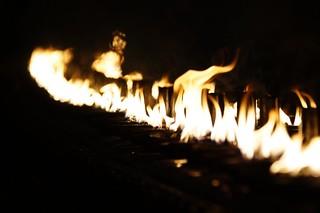 Image of  Shwedagon Pagoda  near  Shwedagon Pagoda. fire nightshot selection sal55300