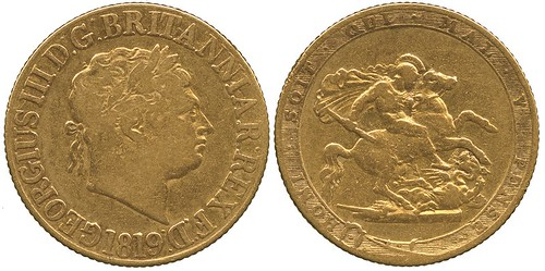 A George III 1819 Currency Sovereign