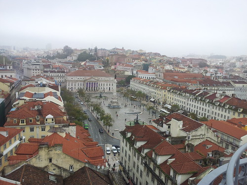 View of Lisbon, from the top of the Santa Justa Elevator