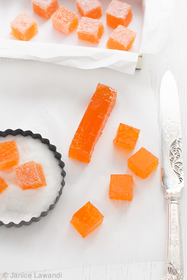 grapefruit honey pâte de fruit | Janice Lawandi @ kitchen heals soul