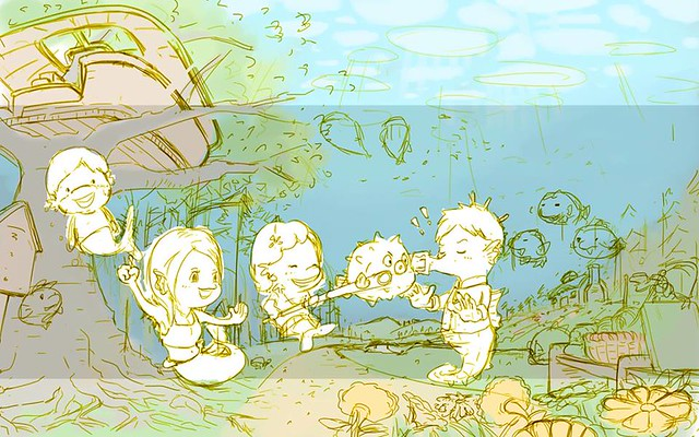小魚媽一家橫幅