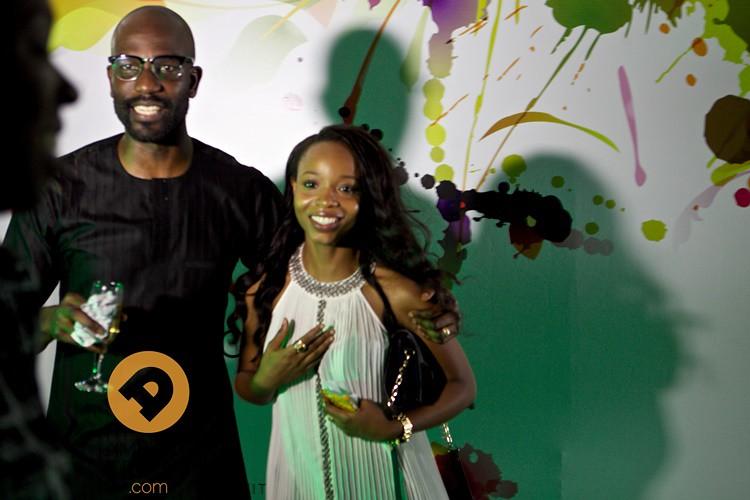 Mai Atafo and Winner of raffle Ijeoma