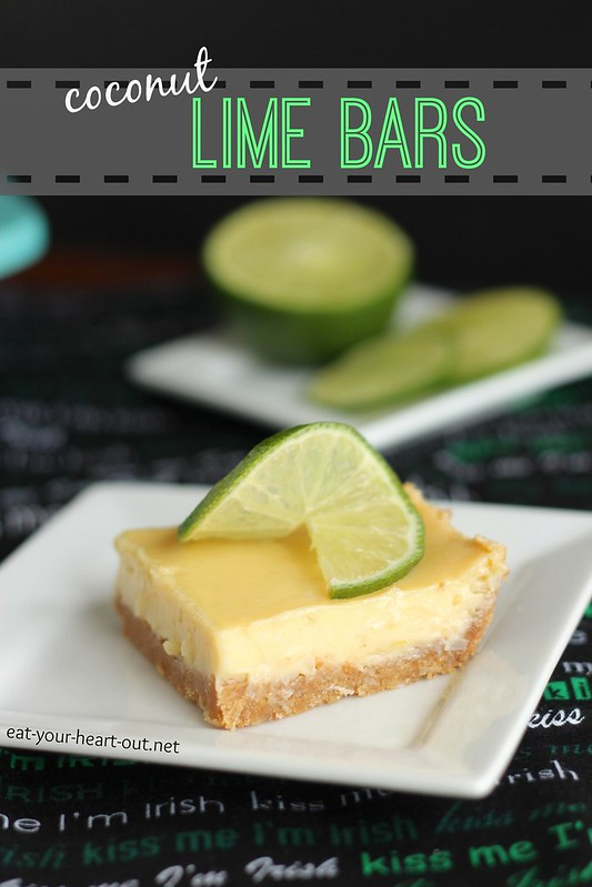Coconut Lime Bars #12bloggers