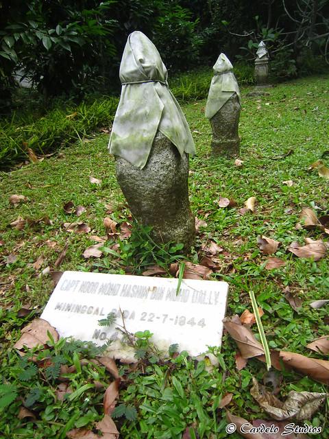 Bidadari Memorial Garden - Muslim Section - Headstone of Captain Noor Mohamed Hashin bin Mohamed Dally 01