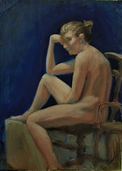 art, painting, figure drawing, nude photography, drawing, modern art, sitting,