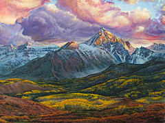 Mt. Sneffels from Dallas Divide in Fall acrylic painting